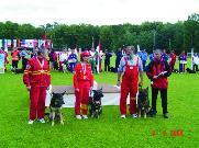 Vítězné družstvo na MS 2004